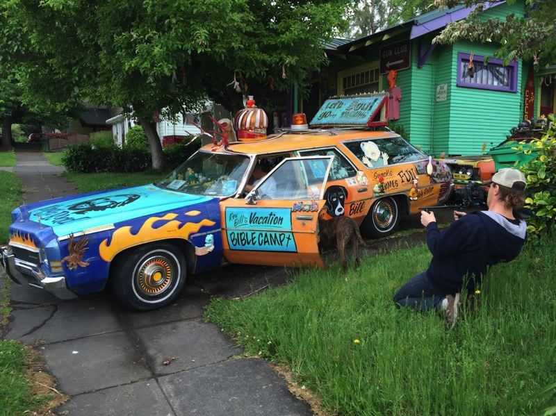 COURTESY: GREG HAMILTON - Filmmaker Greg Hamilton is preparing a documentary about Portland car art pioneer Rev. Charles 'Chuck' Linville. It's called 'Thou Shall Not Tailgate.'