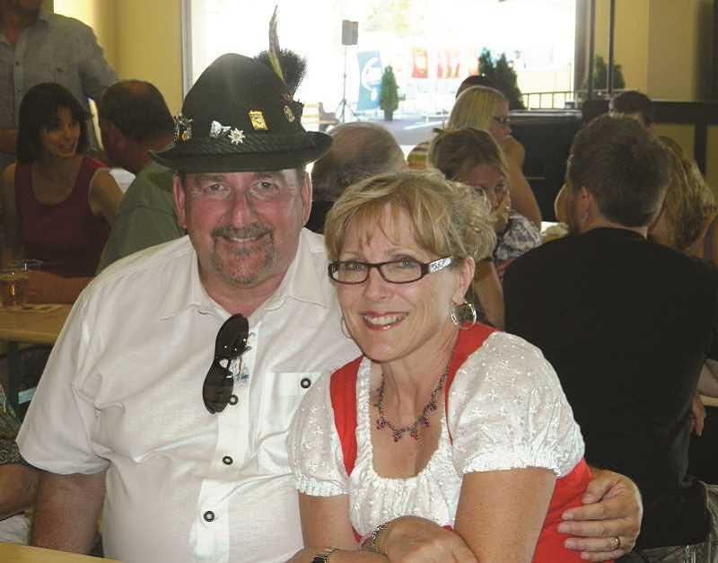 INDEPENDENT FILE PHOTO - James Byron Hall Jr. (left) pictured with his wife. Hall served as treasurer of the Mt. Angel Community Foundation for more than a decade. He is accused of stealing from the nonprofit multiple times between 2011 and 2014.