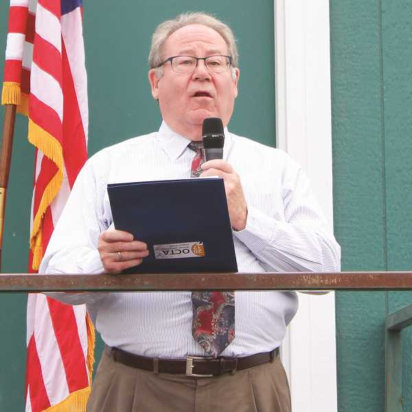 HOLLY SCHOLZ/CENTRAL OREGONIAN  - Jail Committee Chairman Mike O'Herron thanked the public for supporting the jail bond.