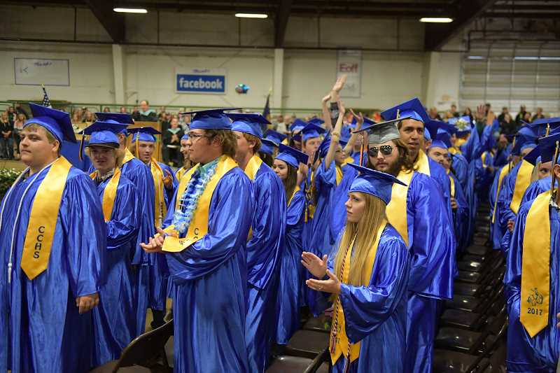 CENTRAL OREGONIAN - Crook County High School graduates from the Class of 2017 enjoy their big day.
