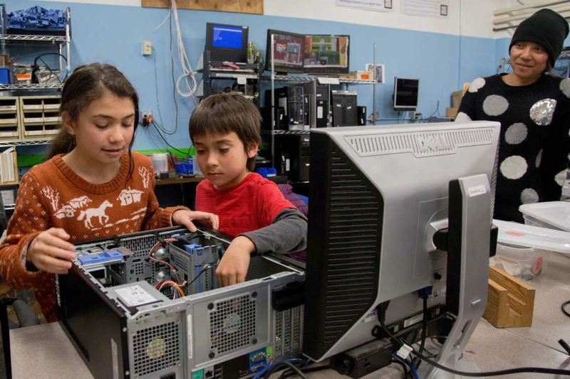 COURTESY METRO  - Free Geek provides opportunities for volunteers to build computers, using older electronic goods recycled by residents.