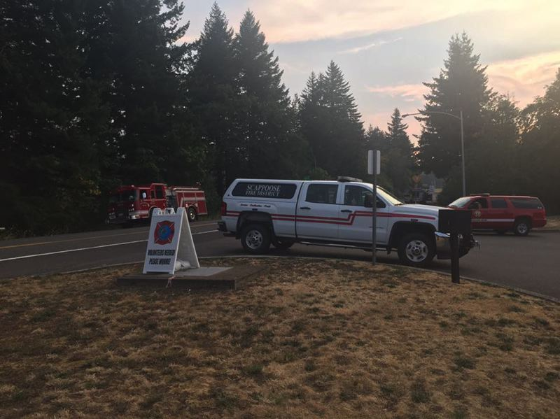 PHOTO COURTESY OF RUSS WARNER - A task force of firefighters from Columbia County was dispatched Sunday, Sept. 3, to the Eagle Creek Fire.