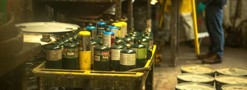 COURTESY OF METRO  - Empty propane cannisters are one of many common items accepted at the hazardous waste center.