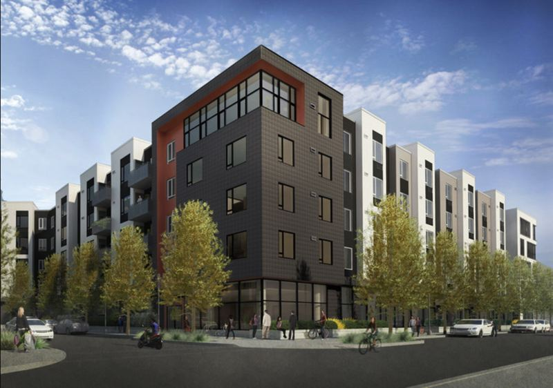SOURCE: CITY OF BEAVERTON, BY ANKROM MOISAN ARCHITECTS - A rendering of The Rise Central shows what it will look like when completed.