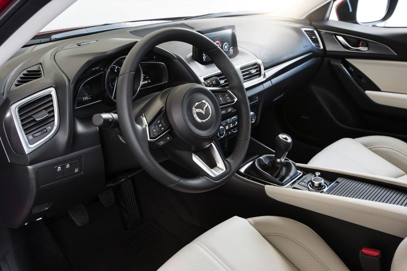 MAZDA NORTH AMERICAN OPERATIONS - The interior of the Mazda3 is more refined than those of its competitors.