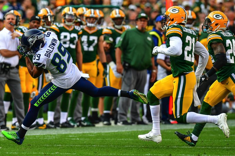 PHOTO BY MICHAEL WORKMAN - Seattle receiver Doug Baldwin caught four passes for 63 yards.