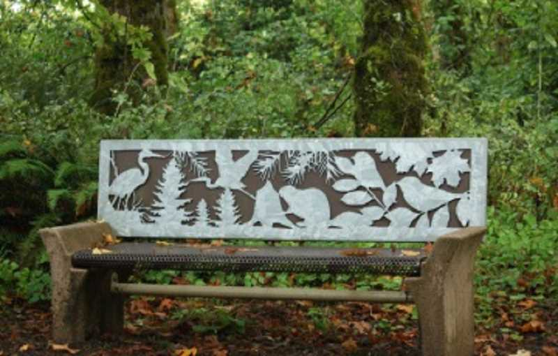 PAULA FARRIS - This bench in the Tualatin River National Wildlife Refuge is both a piece of art and an inviting place to sit and contemplate nature from morning to night.