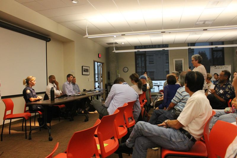 TRIBUNE PHOTO: LYNDSEY HEWITT - Concerned community members and business owners aired their grievances to city and county officials.
