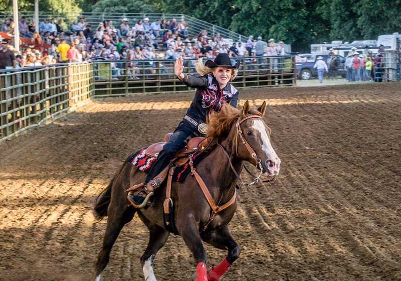 SUBMITTED PHOTO: TRAIL SONG PHOTOGRAPHY - Addy competed at the Philomath Frolic & Rodeo and came away with the 2018 Miss Teen Rodeo Oregon title.