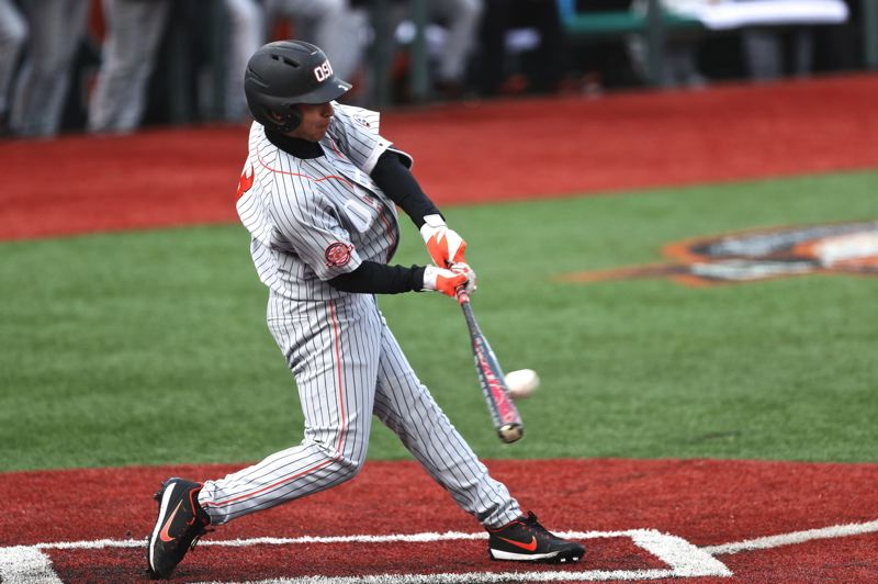TRIBUNE FILE PHOTO: JAIME VALDEZ - Nick Madrigal is among a large group of Oregon State Beavers returning for the 2018 season.