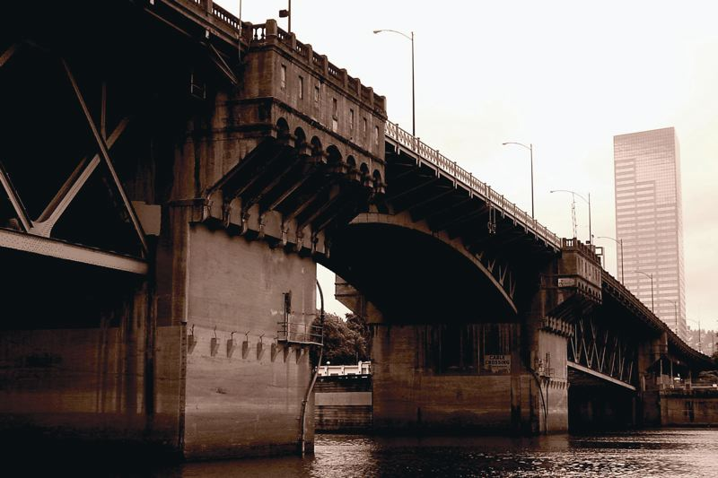 COURTESY: BRIAN LIBBY - The Burnside Bridge is one of Portland's oldest and needs to either be replaced or brought up to current seismic standards. In either event, there's an opportunity to make it so much more than just a way to transport vehicle traffic.