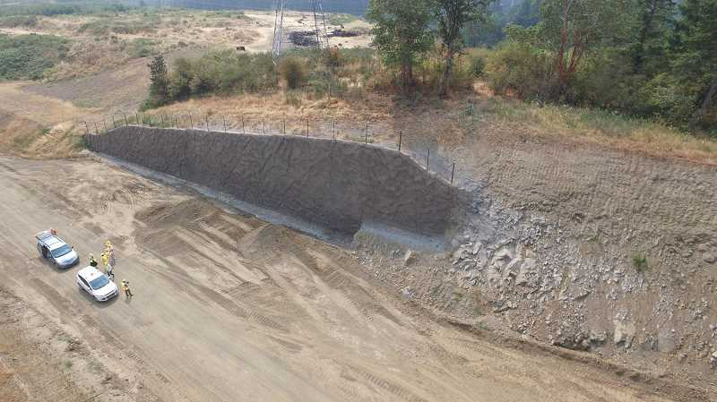 COUTESY OF ALVARO FONTAN - Here's a retaining wall along 124th Avenue (currently under construction) near Tualatin-Sherwood Road. A spring 2018 opening is planned for the roadway.