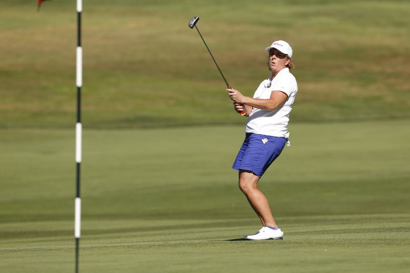 COPYRIGHT USGA/STEVEN GIBBONS - Judith Kyrinis is one of four Canadian golfers in the final eight at the U.S. Senior Women's Am at Waverley Country Club.