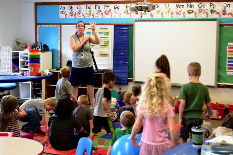 POST PHOTO: BRITTANY ALLEN - Sandy Grade School offers a class for kindergarteners who need a little more help acclimating to school.