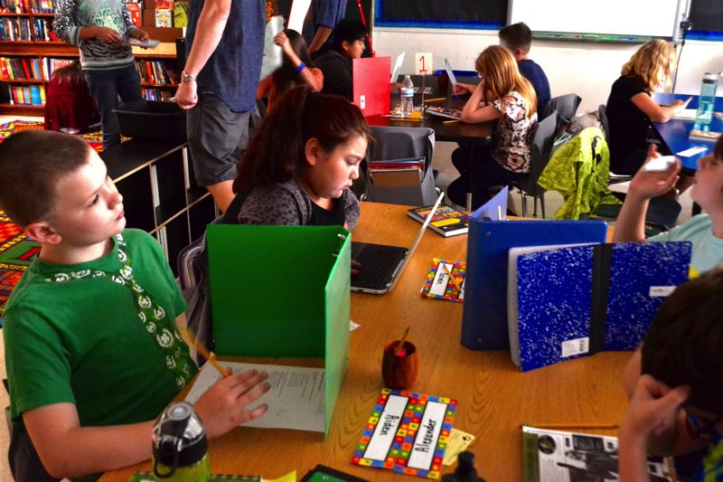 POST PHOTO: BRITTANY ALLEN - Chromebooks have become a staple in the Oregon Trail School District curricula at all schools and grade levels.