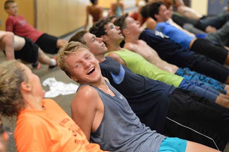 SPOKESMAN PHOTO: CLARA HOWELL - The boys and girls cross country team, along with other sport teams at WHS, practice indoors due to poor air quality.