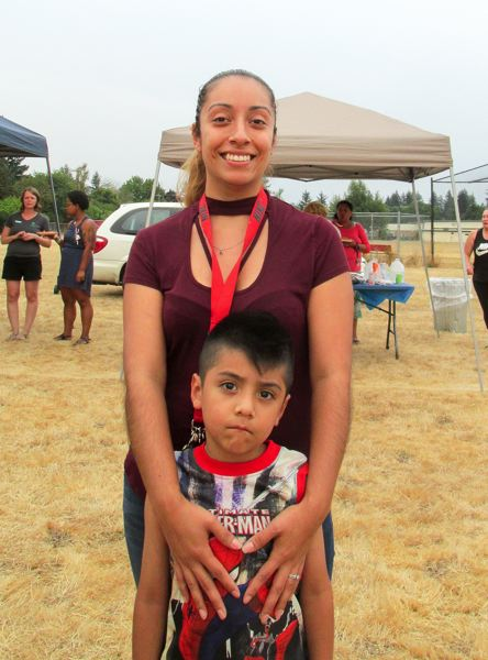 OUTLOOK PHOTO: TERESA CARSON - Ana Pineda and her 5 year-old son Damian are looking forward to the new park, which is scheduled to start construction in 2019.