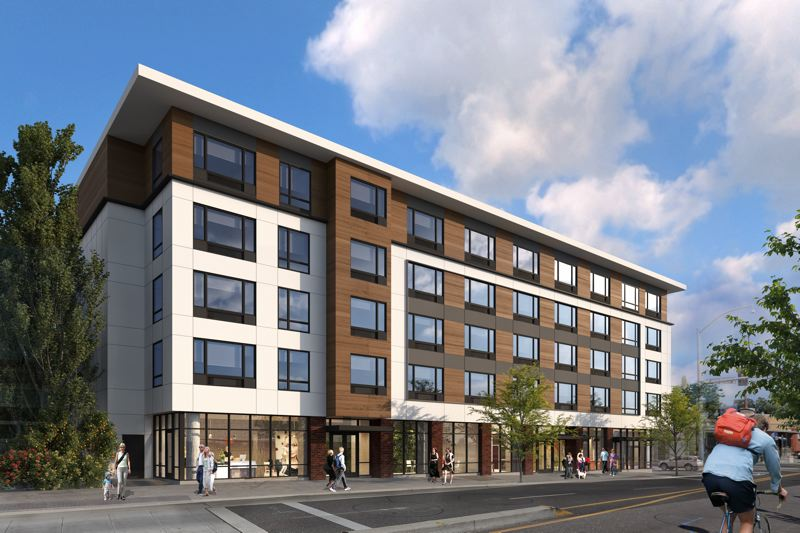 SUBMITTED: GUARDIAN REAL ESTATE, COURTESY SERA ARCHITECTS - The 110-unit Milwaukie project will include affordable units, even though Brenneke sought out a suburban plot to escape the City of Portlands mandatory Inclusionary Housing policy.