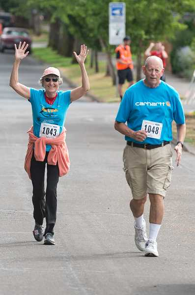 NEWS-TIMES PHOTO: CHRISTOPHER OERTELL - Kathy and Tim Gary are excited about approaching the finish line.