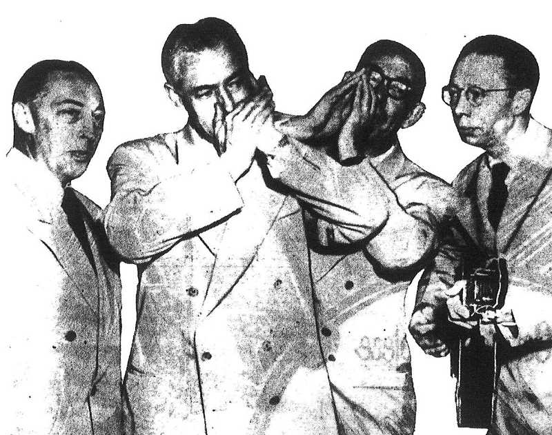 SUBMITTED PHOTO - The Oswego Four formed in 1943 and entertained audiences for more than 50 years. From left: Mark Beach, Lou Lavachek, C.F. Corbett and J.A. Van Leeuwen.