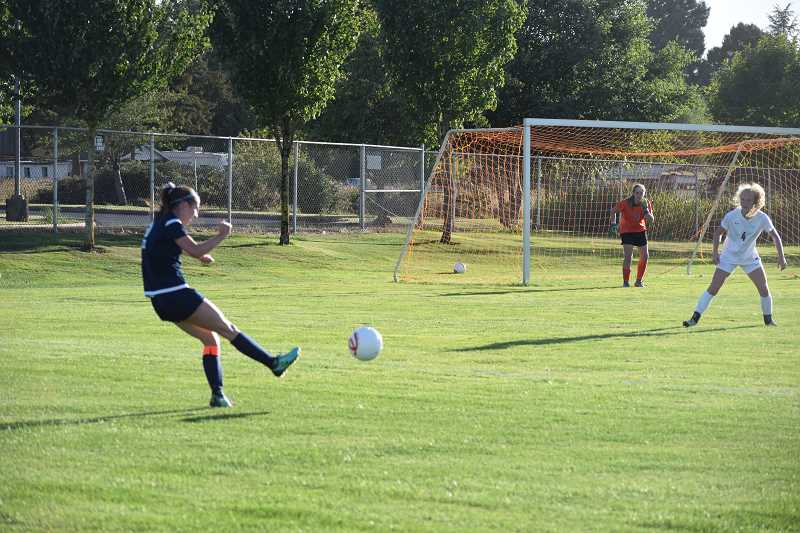 TANNER RUSS - The Wilsonville girls team defeated the Silverton Foxes on the road 3-0.