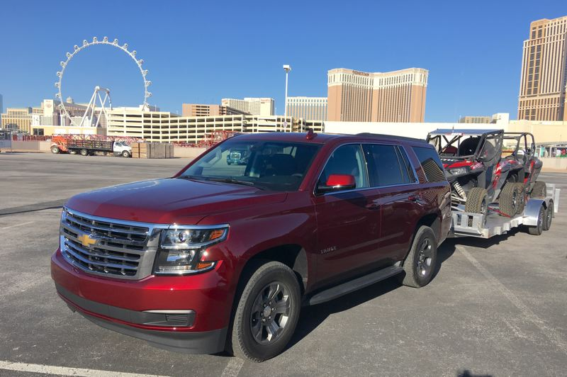 PORTTLAND TRIBUNE: JEFF ZURSCHMEIDE - The Tahoe Custom is designed to provide the most important features selected by Tahoe buyers at an attractive price point, and can  tow up to 8,600 pounds with the optional maximum trailering package.