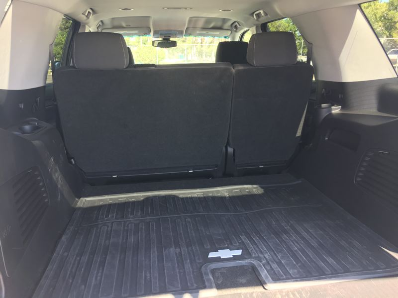 PORTLAND TRIBUNE: JEFF ZURSCHMEIDE - The Tahoe Custom deletes the third row of seats in favor of maximum cargo space, with 54 cubic feet behind the second row, and up to 112 cubic feet when the second row seats are folded.