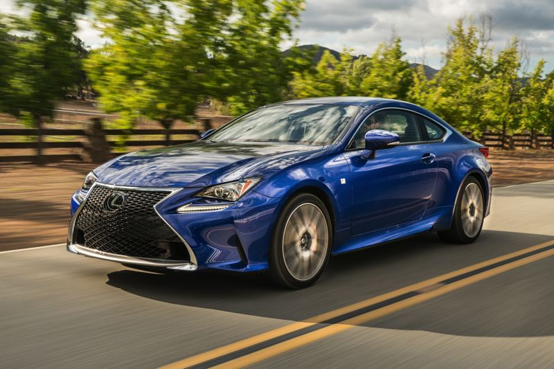 COURTESY LEXUS - The 2017 Lexus RC200t is aggressively styled, especailly when equipped with the additional bodywork in the F Sport package.