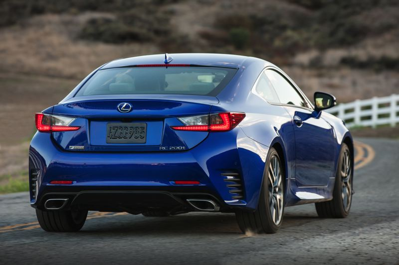 COIRTESY LEXUS - The 2017 Lexus RC200t is designed to look good coming or going.