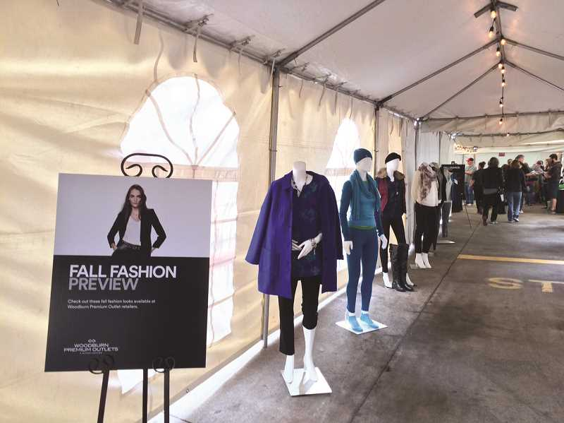 COURTESY PHOTO: WOODBURN PREMIUM OUTLETS - Fall Fashion Frenzy raises money for local nonprofits and charitable organizations. Pictures are fashions from the 2015 event.