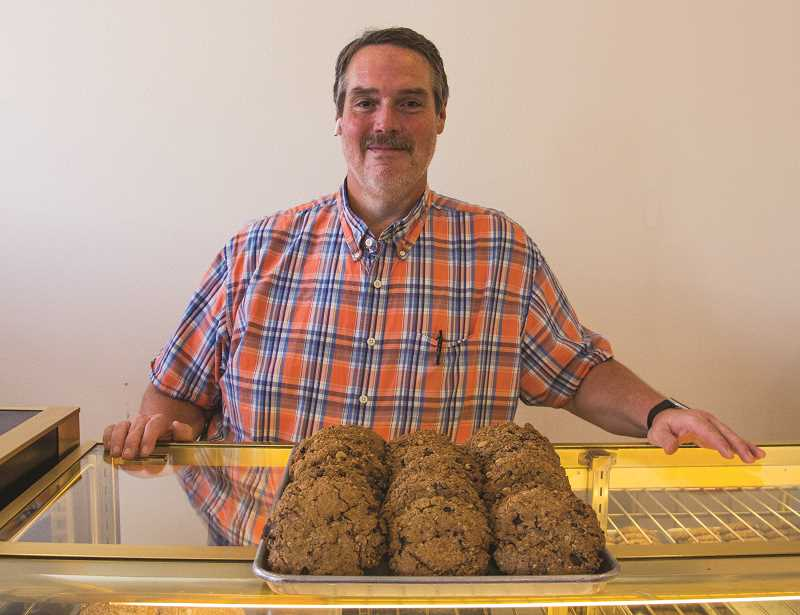 INDEPENDENT PHOTO: JULIA COMNES - Sin-able Sweets owner Dan Clements (pictured) has sugar sensitivies because of the gastric bypass surgery he underwent in 2004. He's passionate about the recipes used in his bakery, which he licensed from a Portland bakery owner who retired last year.