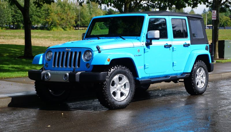 PORTLAND TRIBUNE: JEFF ZURSCHMEIDE - If you need to go where no one else would dare, then a Jeep Wrangler Unlimited is your vehicle. But it is also fun to drive on the road.