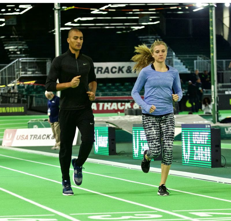 TRIBUNE FILE PHOTO: JAIME VALDEZ - Track stars Ashton Eaton and wife Brianne Theisen-Eaton were among the inductees Tuesday at the Oregon Sports Hall of Fame's annual ceremony.