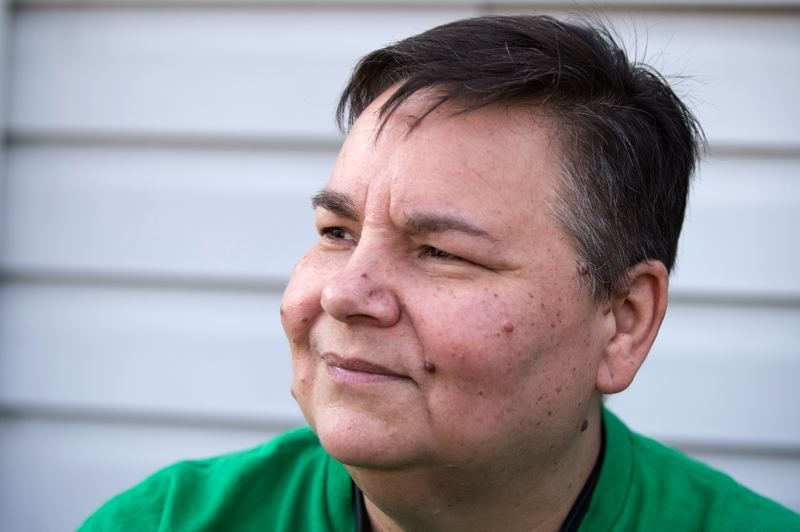 TIMES PHOTO: JAIME VALDEZ - Pam May, Just Compassion's recording secretary, was homeless for five years.