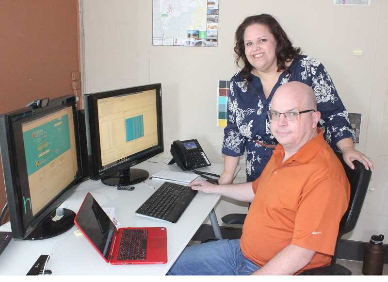 SUSAN MATHENY/MADRAS PIONEER - Tracey and Michael Leslie got help with business strategies while starting up their Howling Boy Tech Inc. venture in Madras.