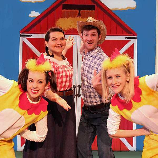 SUBMITTED PHOTO - Members of ArtsPower Theatre will kick off the Sherwood Center for the Arts' Family Matinee Series with 'Chicken Dance' performed on Saturday, Oct. 14 at 2 p.m.