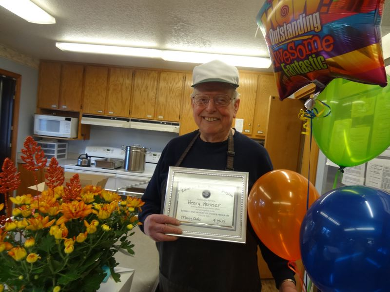 COLUMBIA COUNTY RSVP PHOTO - Henry Penner was named September's volunteer of the month by Columbia County Retired Senior Volunteer Program. Penner volunteers at the Columbia Pacific Food Bank.