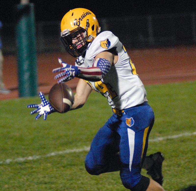 GRESHAM OUTLOOK: MATT RAWLINGS - Barlow's Colton Thompson attempts to corral a pass near the end zone.