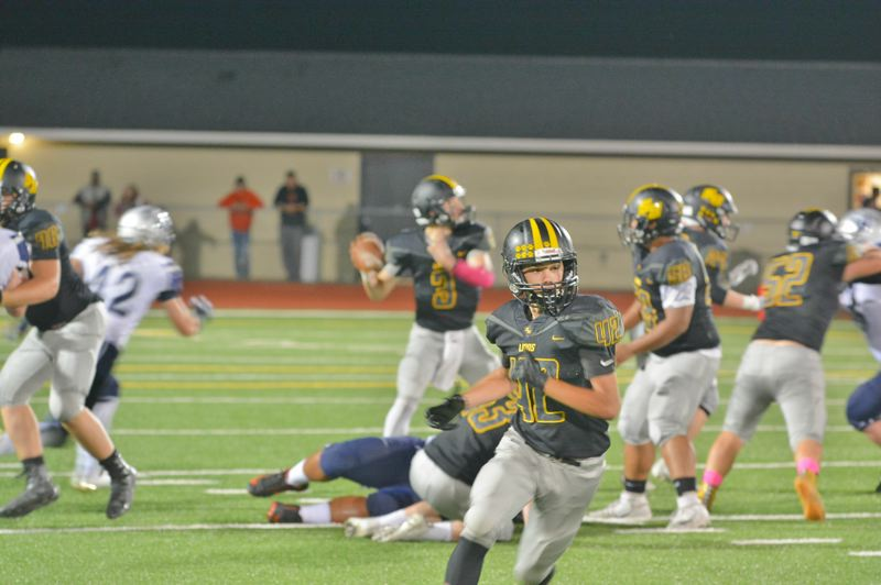 SPOTLIGHT PHOTO: JAKE MCNEAL - Lions junior tight end Jacob Klein (42) runs a route to get open.
