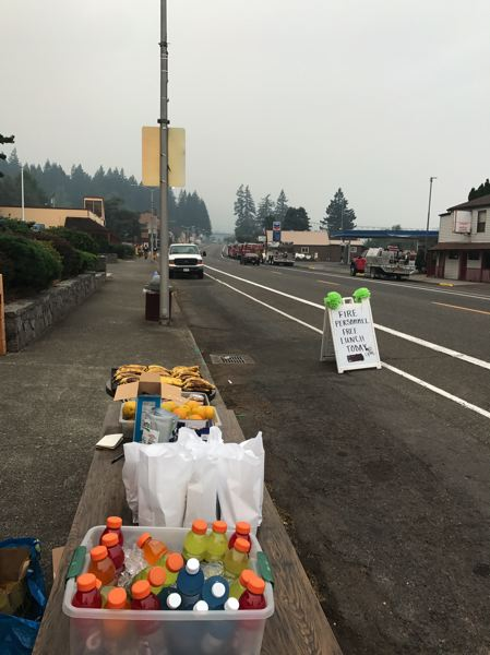 COURTESY: THUNDER ISLAND BREWING - The Cascade Locks Strong movement is intended to build resiliency in the community. Interstate 84 eastbound from Portland was closed at Troutdale due to the fire and Highway 14 on the Washington side was at risk of landslides.