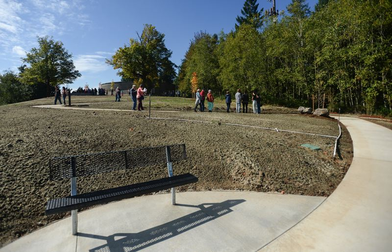 OUTLOOK PHOTO: JOSH KULLA - Hogan Butte Nature Park, dedicated Saturday in a public ceremony atop the 930-foot butte, provides a one-third mile pedestrian walking path with interpretive panels.
