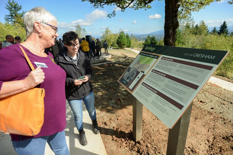 OUTLOOK PHOTO: JOSH KULLA - Nearly 100 people attended Saturday's dedication of Gresham's Hogan Butte Nature Park.