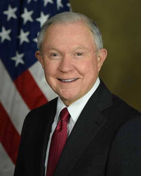 COURTESY PHOTO: U.S. DEPARTMENT OF JUSTICE - U.S. Attorney General Jeff Sessions