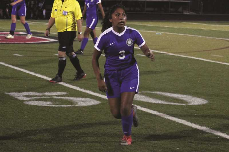 PHIL HAWKINS FILE PHOTO - Woodburn freshman Alyssa Padilla assisted on two goals in the Bulldogs' four-goal rally in the second half of their 4-3 victory over the Reynolds Raiders on Thursday.