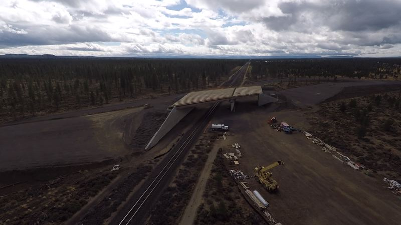 OREGON DEPARTMENT OF TRANSPORTATION - The Wickiup Junction railroad overpass project in La Pine