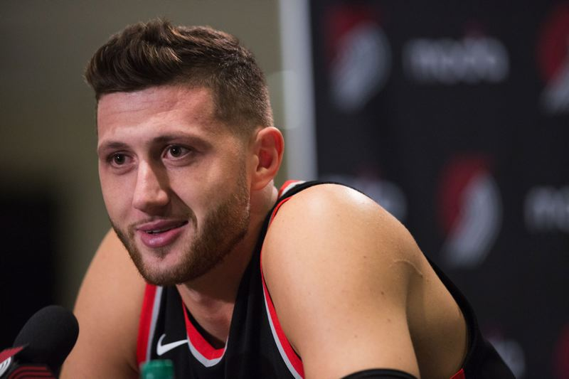 TRIBUNE PHOTO: JONATHAN HOUSE - Trail Blazers center Jusuf Nurkic stayed in Portland during the offseason to get to know the city better, and he wants a contract extension that will keep him here longer as a player.