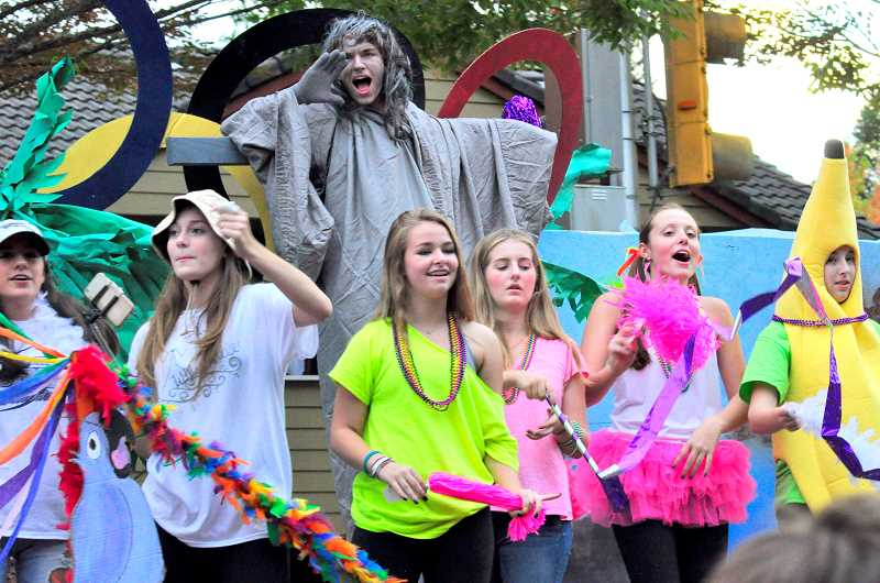 SPOKESMAN FILE PHOTO - Wilsonville High Schools annual Homecoming Parade launches Oct. 6 in the streets surrounding the high school.