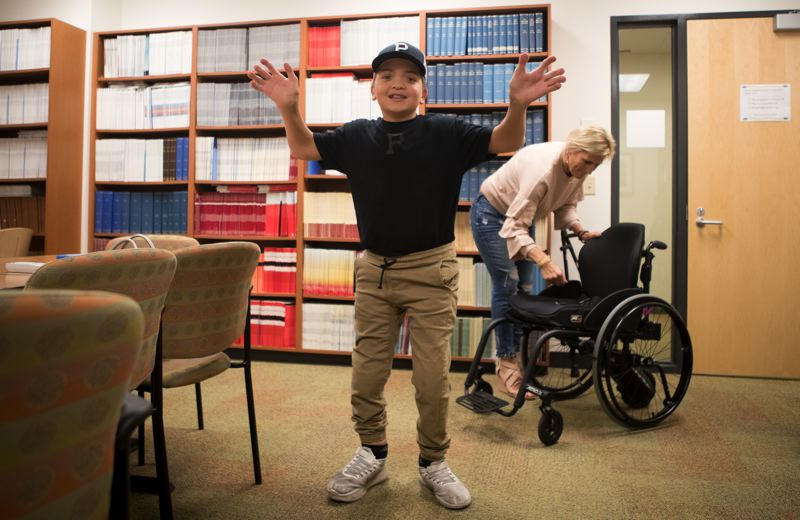 TIMES PHOTO: JAIME VALDEZ - Twelve-year-old Jake Dering keeps on beating the odds. He lives with an extremely rare condition called otopalatodigital syndrome type II, and doctors did not originally expect him to survive infancy.