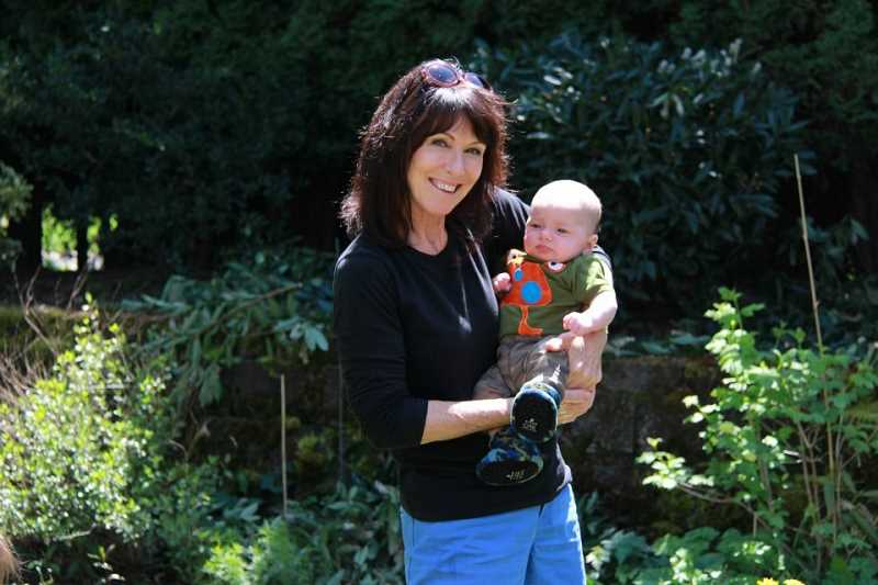 SUBMITTED PHOTO: JAMIE INGLIS - Family is very important to Kathy Schilling, pictured here with grandson Weston.