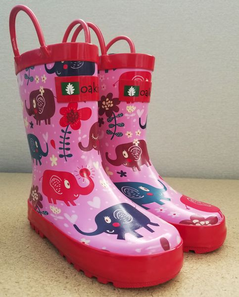 SUBMITTED PHOTO - Oaki officials have agreed to partner on Clackamas County's initiative to provide free rain boots to local children.